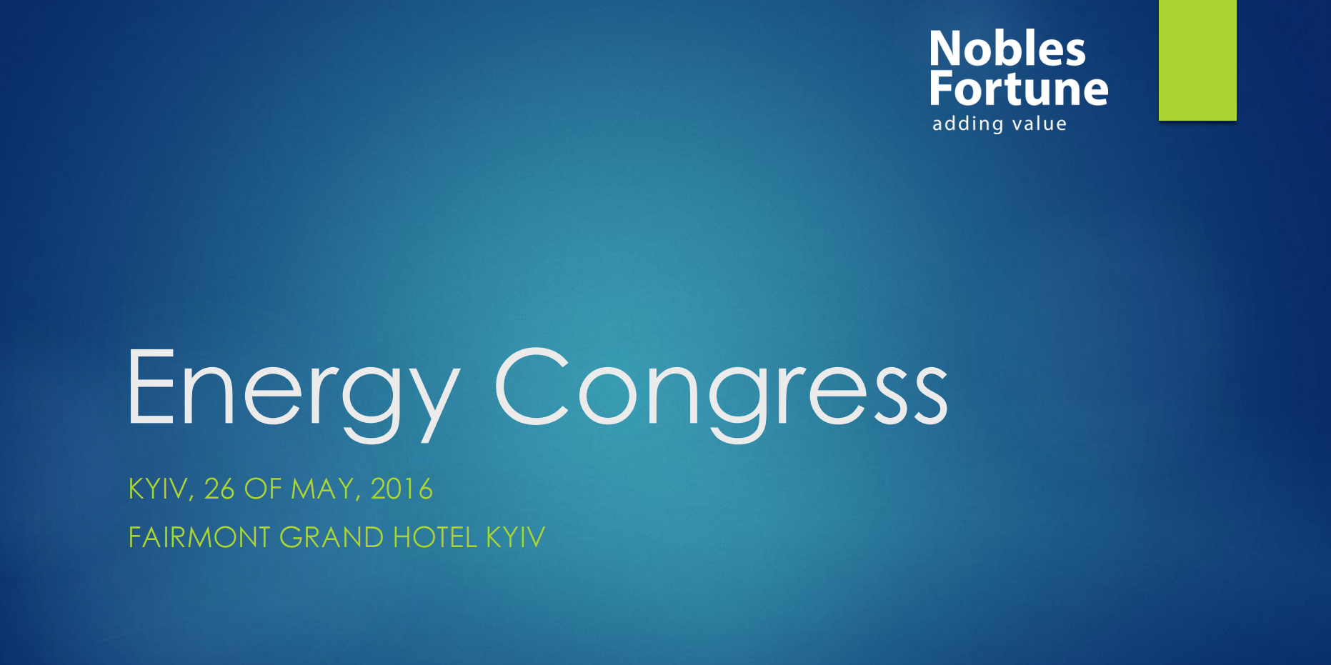 ENERGY CONGRESS: Energy Spring 2016
